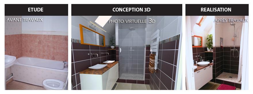 Superieur Exemple Rénovation Salle De Bain Complète