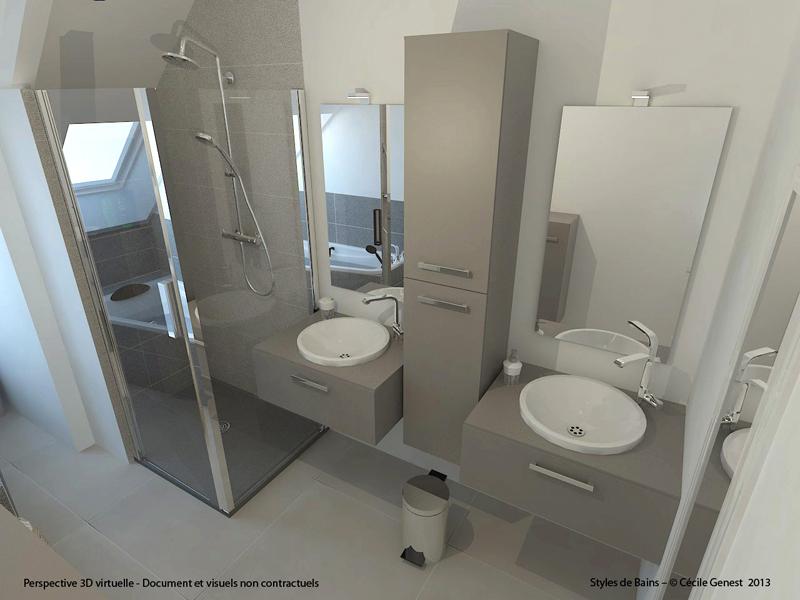Salle de bain rennes conception 3d nous vous accompagnons - Conception salle de bain 3d gratuit ...